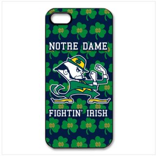 Notre Dame Fighting Irish iPhone 5 Case Cover Hard Black Plastic 0661