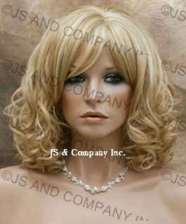Back in Stock Striking New Curly Beautiful Golden Blonde Mix Wig SC 24
