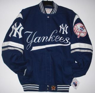 SIZE L MLB Authentic NEW YORK YANKEES COTTON TWILL JACKET JH DESIGN L
