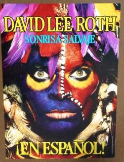 David Lee Roth 1986 Mexican Poster Eat Em Smile Mint