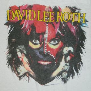1986 David Lee Roth Vtg Concert T Shirt Eat Em and Smile Tour Van