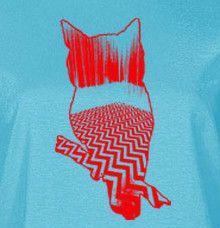 Twin Peaks Owl T Shirt Black Lodge Fringe Eraserhead Palmer Lynch O