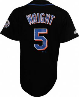 David Wright New York Mets Black 5 Youth Player Jersey