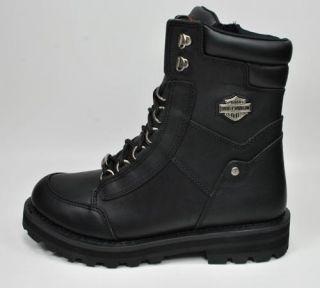 Harley Davidson Vantage Oil Resistant Black Leather Boots 95169 Men