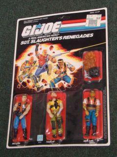 Renegades Vintage 1987 Gi Joe SEALED 3 Pack Mercer Red Dog