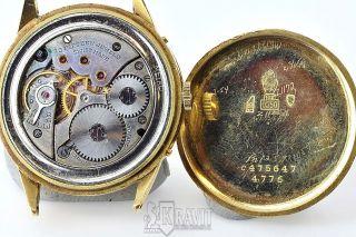 Mens 18K Movado Day Date Calendar Watch C 1940S