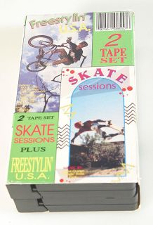 Skate Sessions Plus Freestylin USA Skateboard Videos 2 VHS Box Set