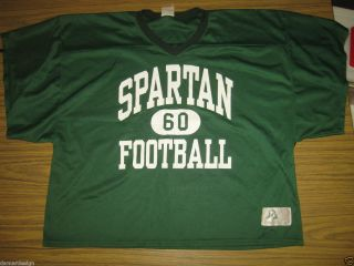 1980s Team Issue MICHIGAN STATE Spartans FOOTBALL Practice Jersey #60