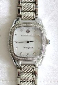 David Yurman Stainless Steel & Sterling Silver Diamond Thoroughbred