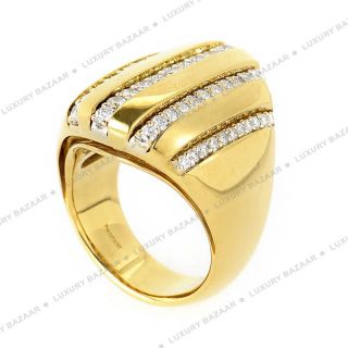 Damiani 18K Yellow Gold Diamond Ring