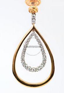 Damiani 18K Rose White Gold Diamond Sunset Boulevard Medium Earrings