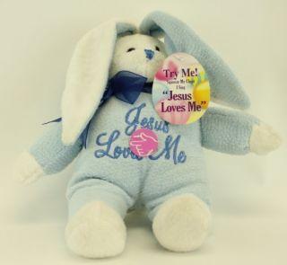 Dan Dee Plush Singing Jesus Loves Me Bunny Rabbit Stuffed Lovey Animal