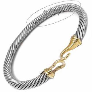 DAVID YURMAN SILVER & GOLD BUCKLE CABLE BRACELET