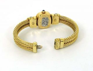 david yurman 18k diamonds ladies cable bangle watch