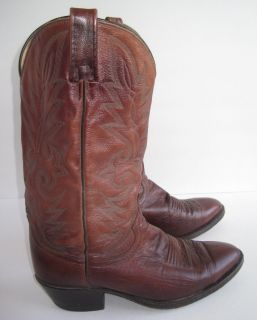 Dan Post Leather Western Cowboy Boots Size 8 5EW Brown Mens El Paso