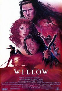 Willow Movie Poster 27x40 Warwick Davis Val Kilmer Jean Marsh Joanne