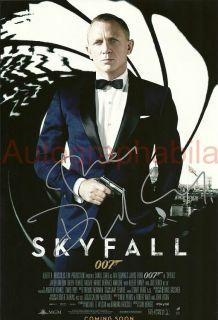 Daniel Craig Authentic Hand Signed Autograph Print Skyfall James Bond