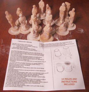 Molds for Civil War Chess Men Set of 14 Craft Art K 4 25 681