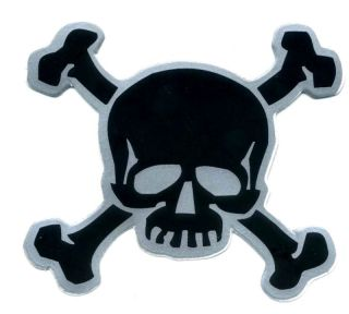 Skull Double Bones Danger Funny Bumper Car Sticker Z96