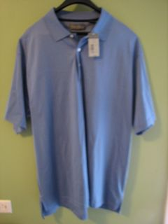 DANIEL CREMIEUX SIGNATURE COLLECTION MENS PERWINKLE BLUE POLO SHIRT