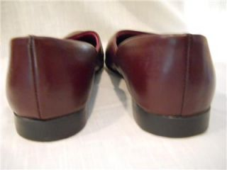 Daniel Green Vintage Mens Burgundy Leather Bedroom Slippers House