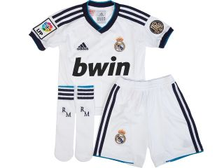 JREAL07D Real Madrid Adidas Little Boys Kit 2012 13 Kids Shirt Shorts