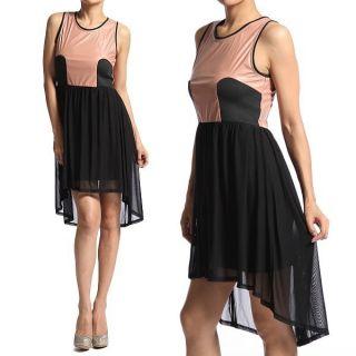 Top Tank Dress Layered Chiffon Bodycon Mini Day to Night