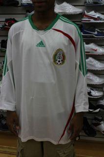 Mexicana de Futbol White Green Red Mens Adidas Soccer Jersey