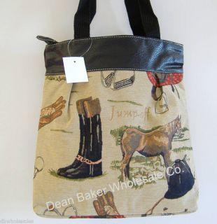 Equestrian Horse Tapestry Print Handbag Tote Bag Purse