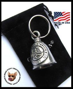 Saint Christopher Motorcycle Ride Bell Made in USA Pewter Biker Bell