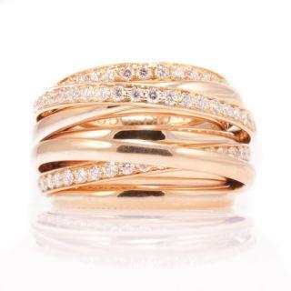 De Grisogono 18K Rose Gold Allegra G vs Diamond Ring