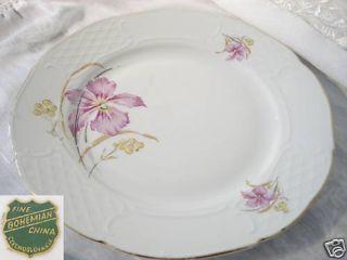Fine Bohemian China Czechoslovakia Floral Dinner Plate