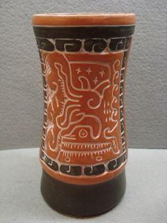 Leopoldo de Mexico Tribal Art Pottery Vase Mexican