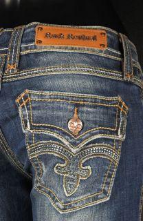 Straight Leg Jeans Debbie RJ8107 T28 with Crystal Fluers