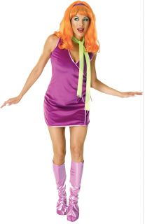 C52 Ladies Scooby Doo Daphne Fancy Dress Costume 8 12