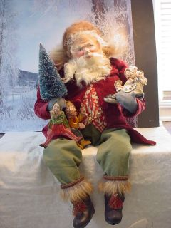 Norma DeCamp 30 Seated Santa, Hand Crafted toys, German Paper Mache