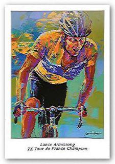 Lance Armstrong Art 7x Tour de France Malcolm Farley