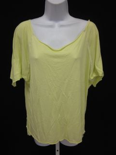 Daftbird Neon Yellow Short Sleeve Oversized T Shirt SzM