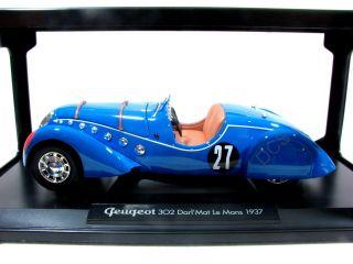 Norev 1937 Peugeot 302 DarlMat Le Mans Blue 1 18 Car