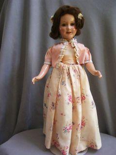 RARE Deanna Durbin 21 Doll Original Formal HH Wig 1930S