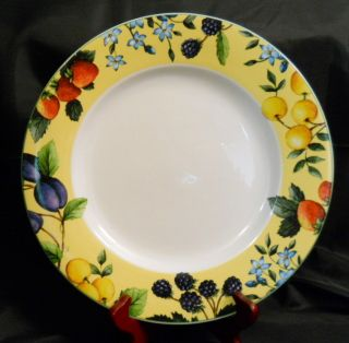 Gibson Claire Murray Bella Sola Dinner Plate Yellow Fruit Flowers