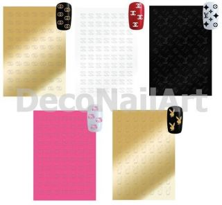 Soft Logo Design Nail Art Decorative DIY Decals Seals Stickers