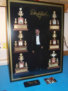 Dale Earnhardt 6 Time Print Autographed Framed Plus Collector D.E. Pen