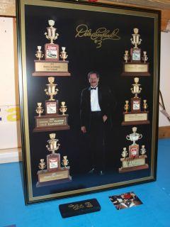Dale Earnhardt 6 Time Print Autographed Framed Plus Collector D.E. Pen