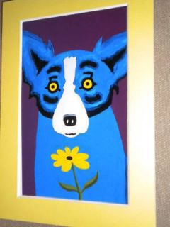 George Rodrigue Blue Dog Copy Notecard not Framed Matte