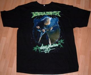 Megadeth Metal Dave Mustaine 2009 Tour Tattoo Biker Death Mens T Shirt