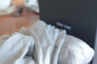 Damir DOMA Huge Silk Linen Scarf w Metal Tips 3 Season Weight New in
