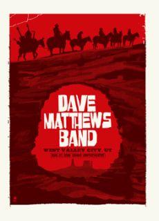 Dave Matthews Band Poster 08 West Valley Utah 425