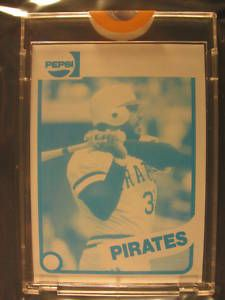 1980 Topps Pepsi Cola Proof Dave Parker Pirates