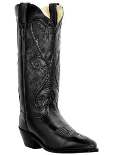 Womens Cowboy Boots Dan Post Mistie Leather Medium B M R Toe Black